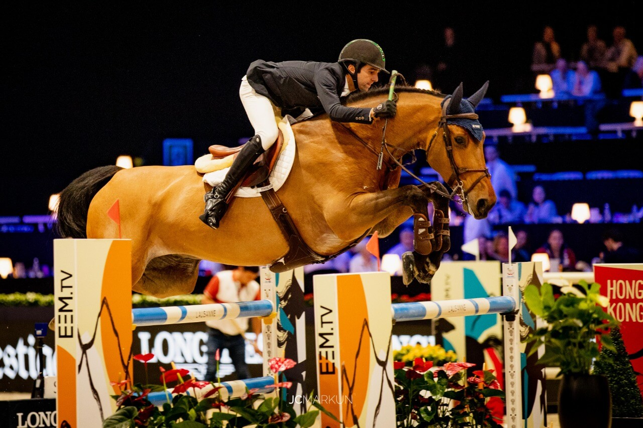PODIUM for KODDAC VAN HET INDIHOF and Marlon Zanotelli at Longines Masters of Paris
